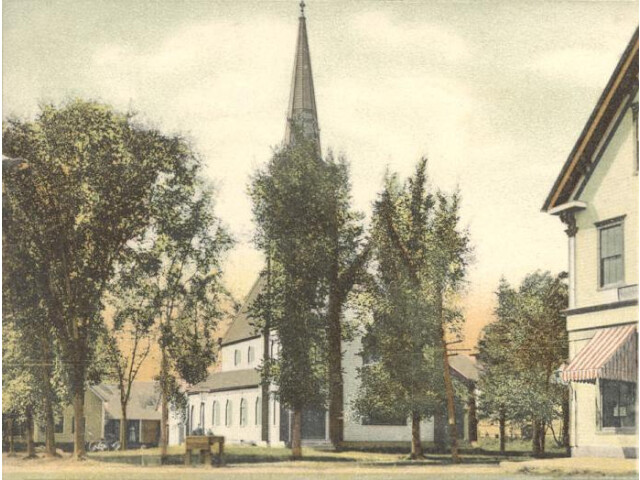Glimpse of Church Street  Canaan  NH image