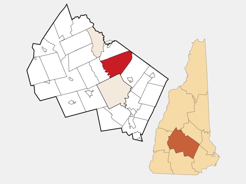 Canterbury locator map