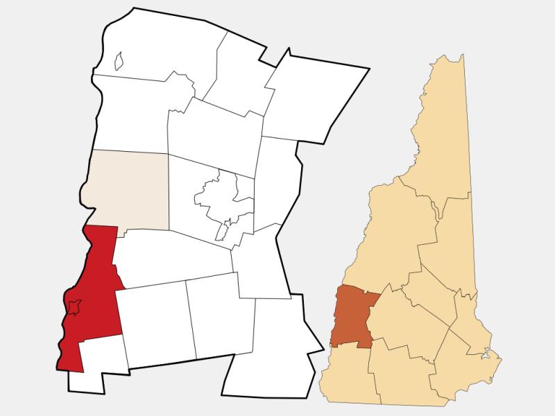 Charlestown locator map
