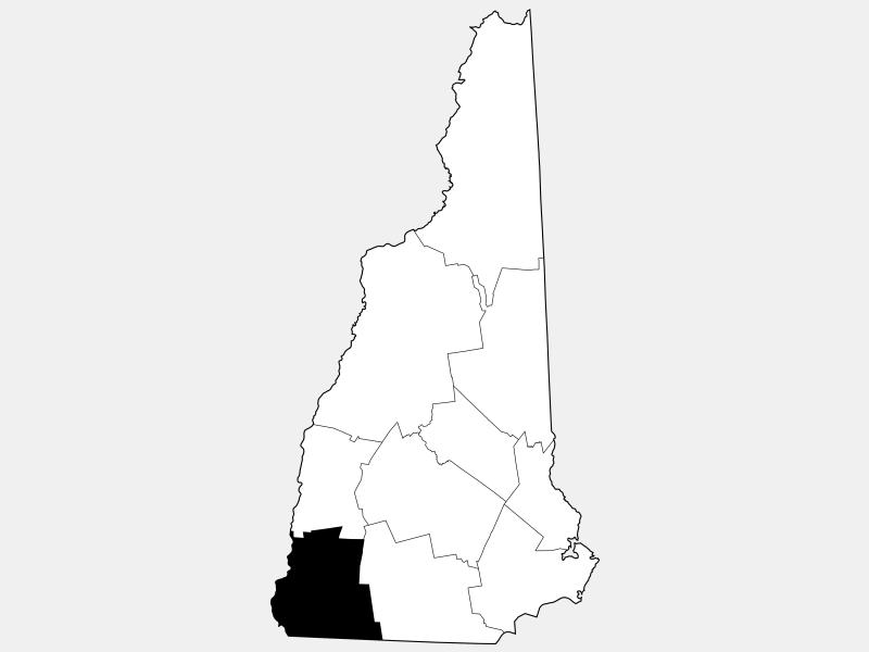 Cheshire County locator map