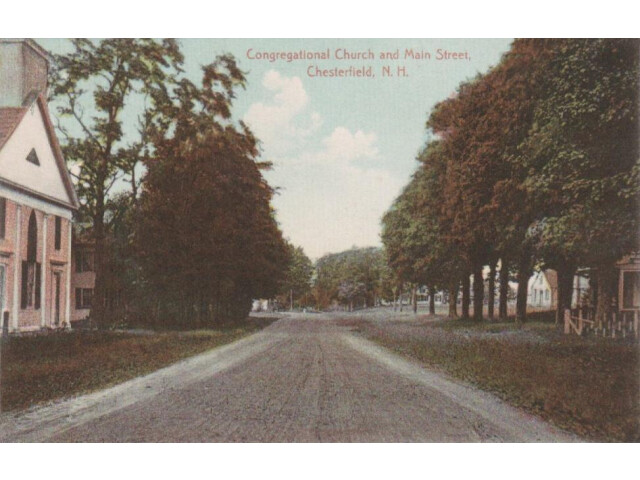 Congregational Church and Main Street  Chesterfield  NH image