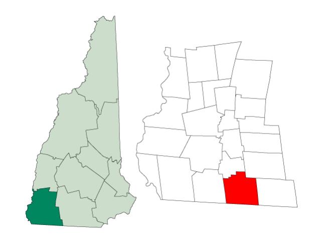 Fitzwilliam locator map