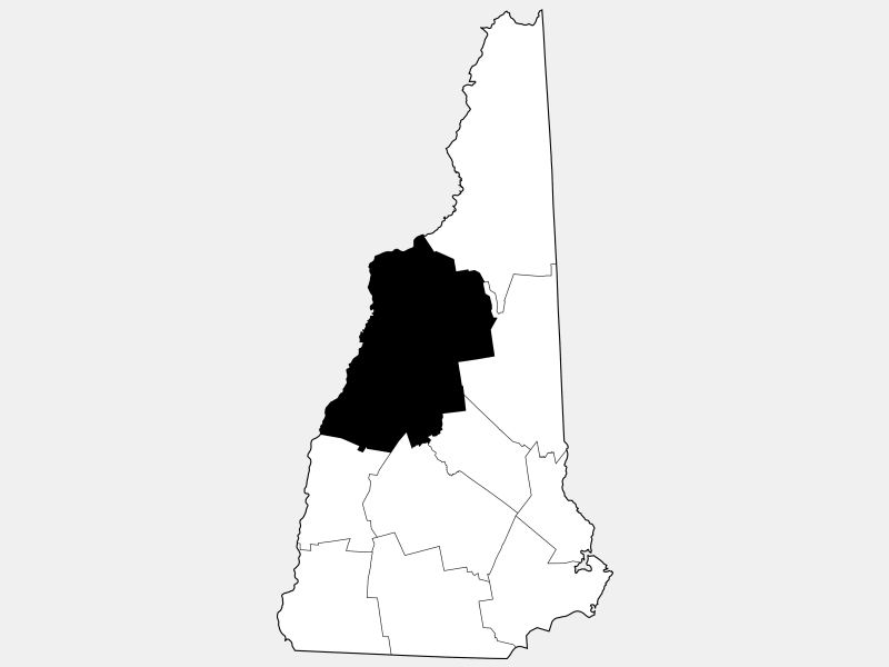 Grafton County locator map