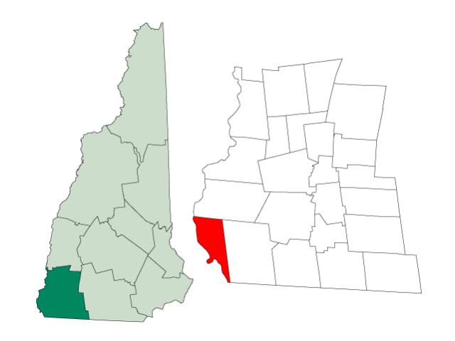 Hinsdale locator map