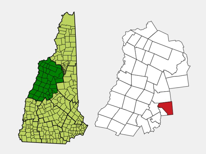 Holderness locator map