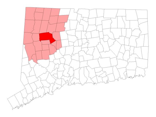 Litchfield locator map