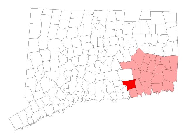 Lyme locator map