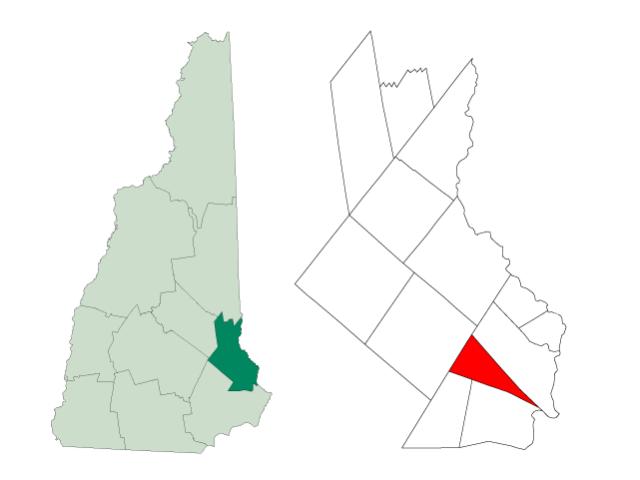 Madbury locator map
