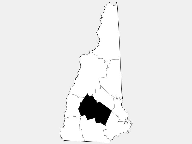 Merrimack County locator map