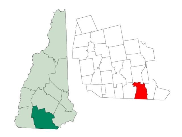 Nashua locator map