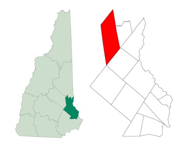 New Durham locator map