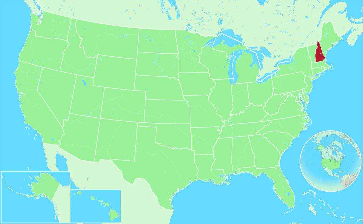New Hampshire locator map