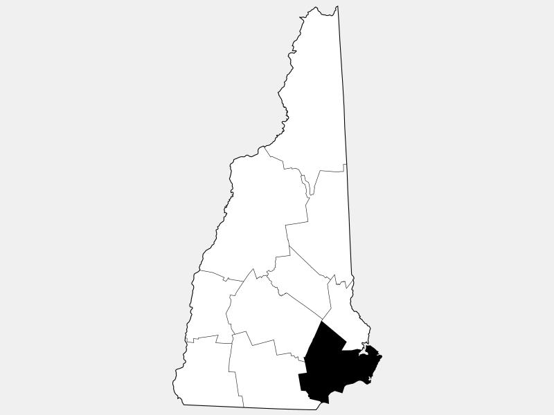 Rockingham County locator map
