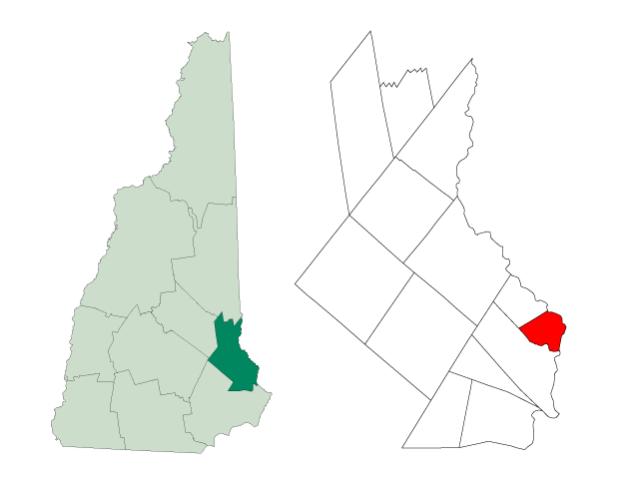 Rollinsford locator map