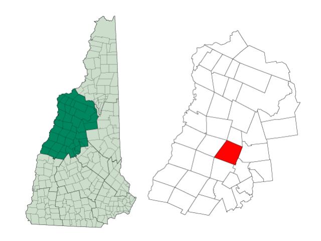 Rumney locator map