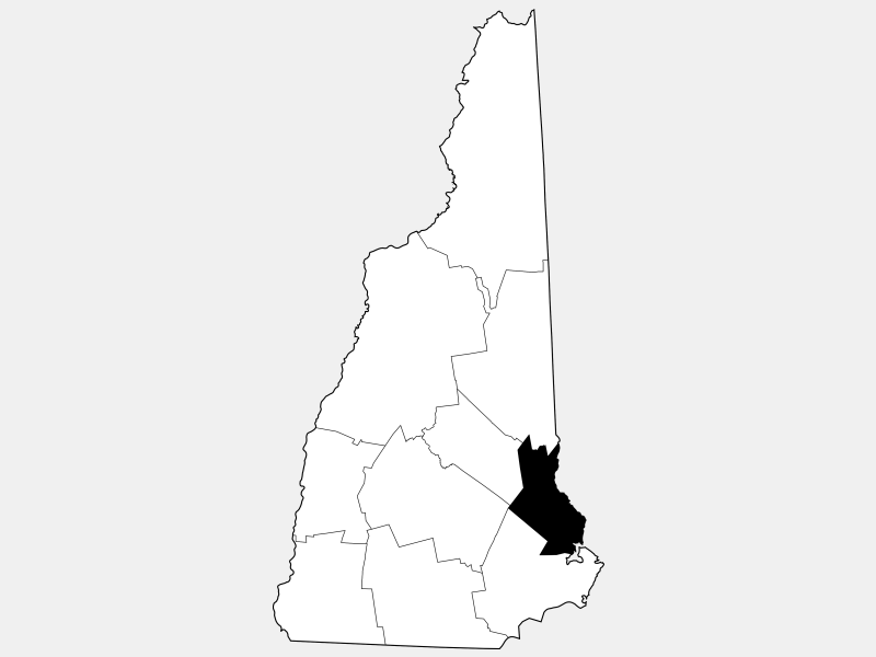 Strafford County locator map