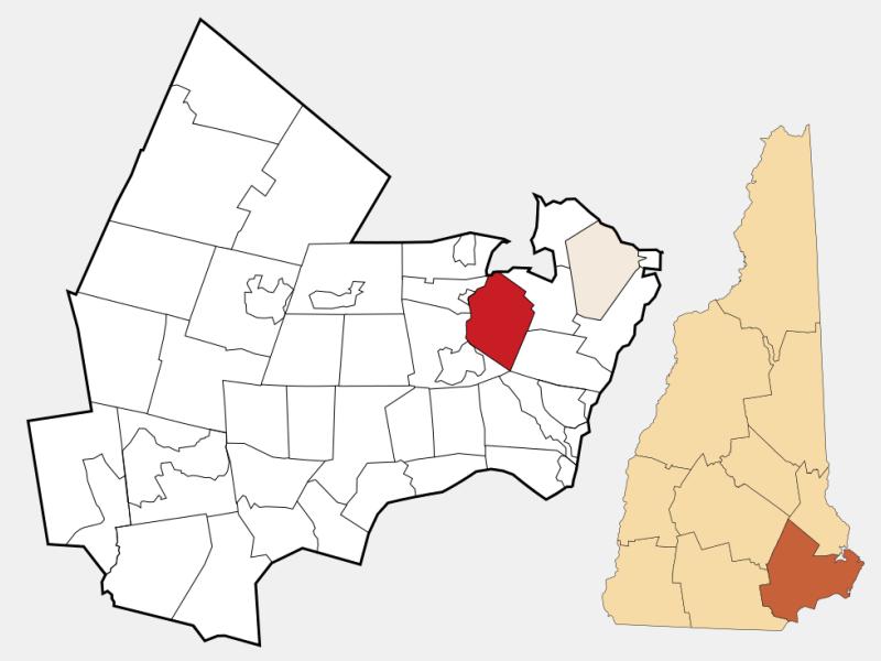 Stratham locator map