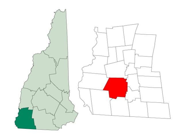 Swanzey locator map
