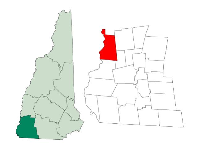Walpole locator map