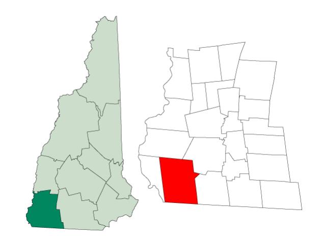 Winchester locator map