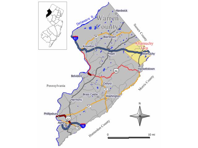 Allamuchy location map
