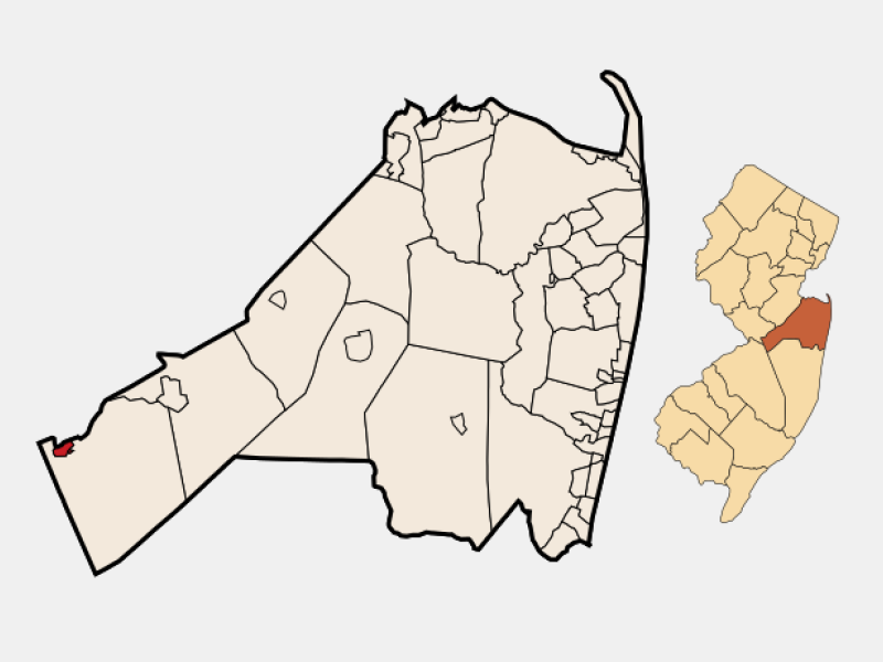 Allentown locator map