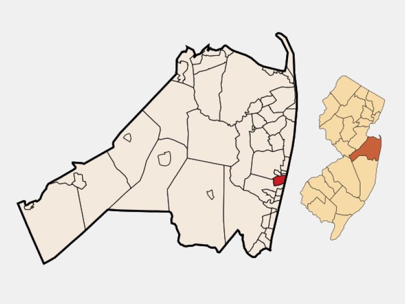 Asbury Park locator map