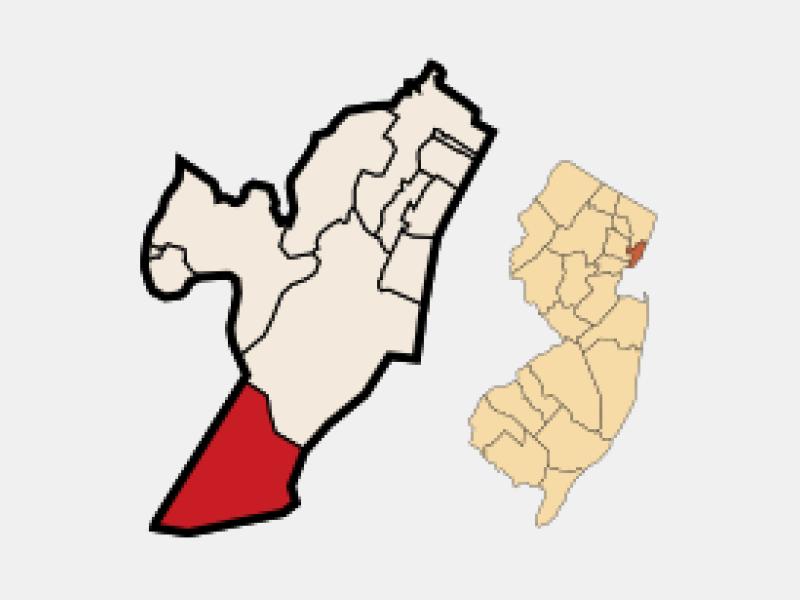Bayonne locator map