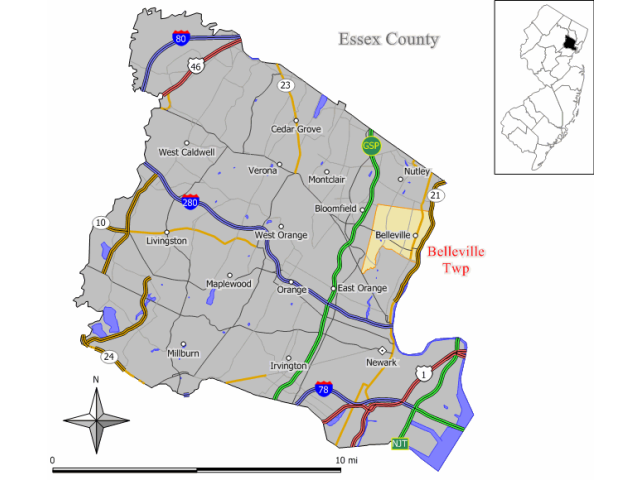 Belleville locator map