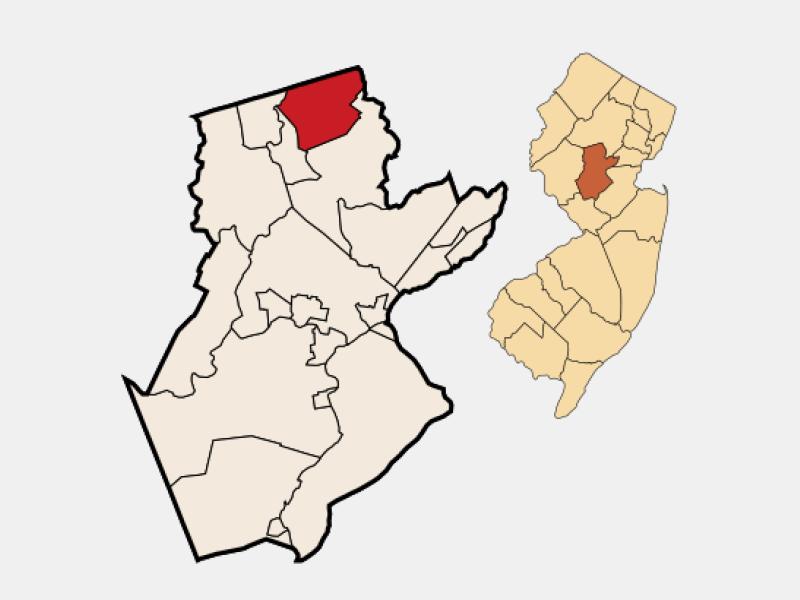 Bernardsville locator map