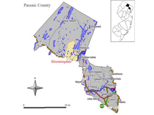 Bloomingdale locator map