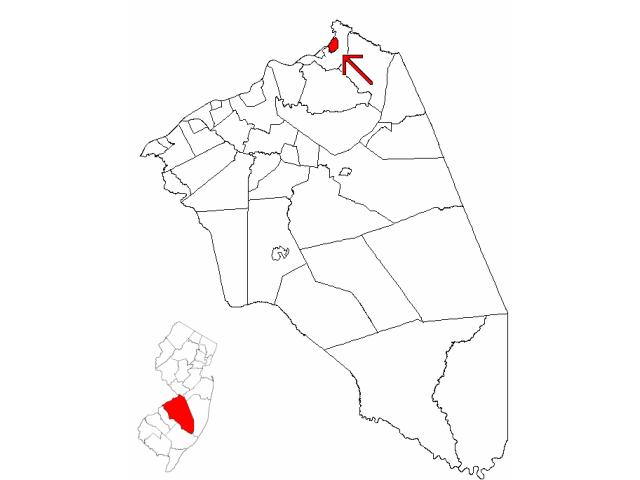 Bordentown location map