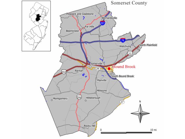 Bound Brook locator map