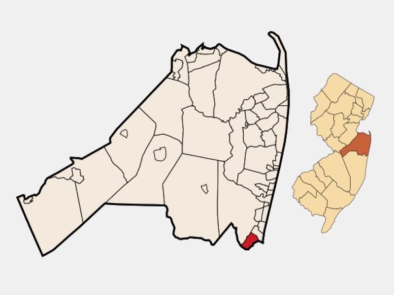 Brielle locator map