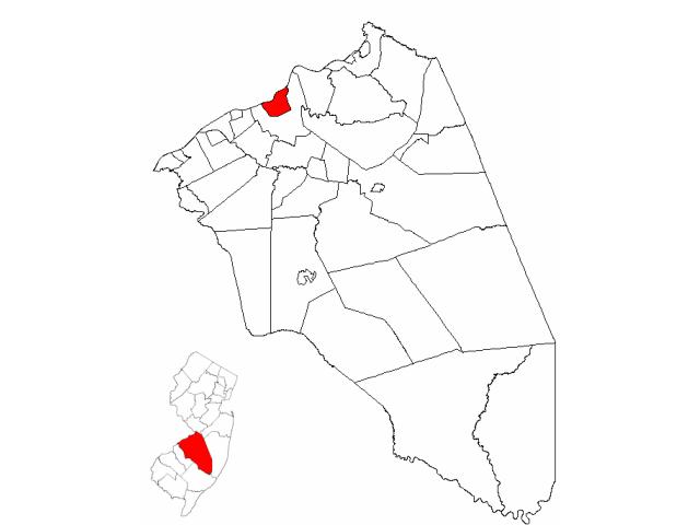 Burlington locator map