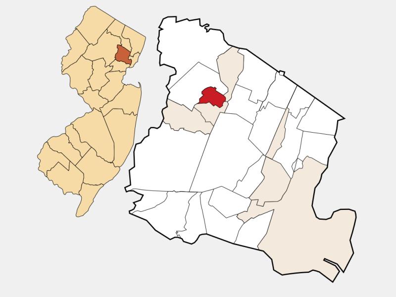 Caldwell locator map