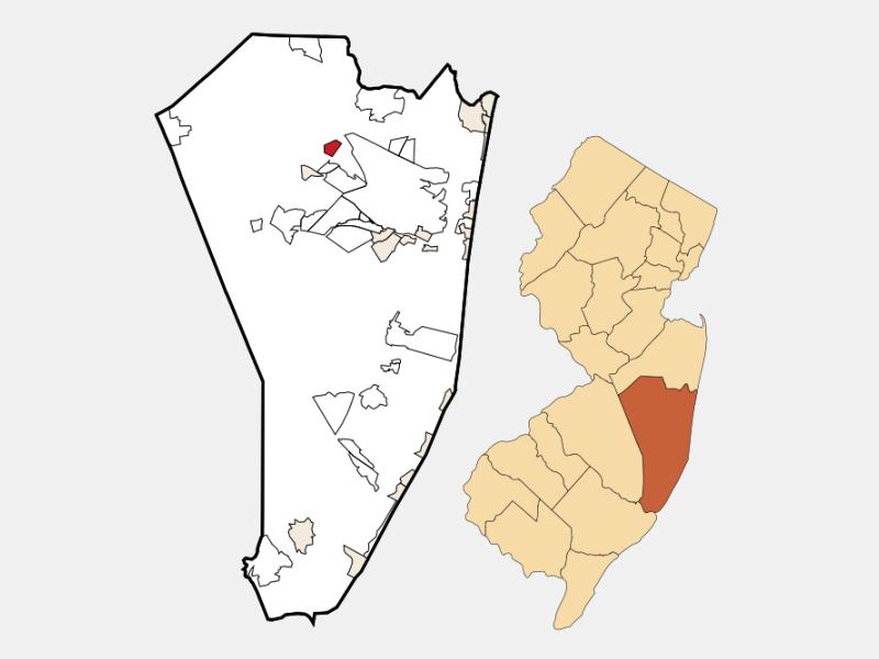 Cedar Glen West location map