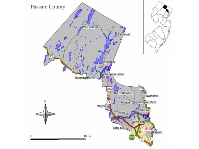 Clifton locator map