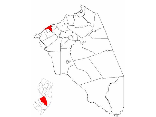 Delanco locator map