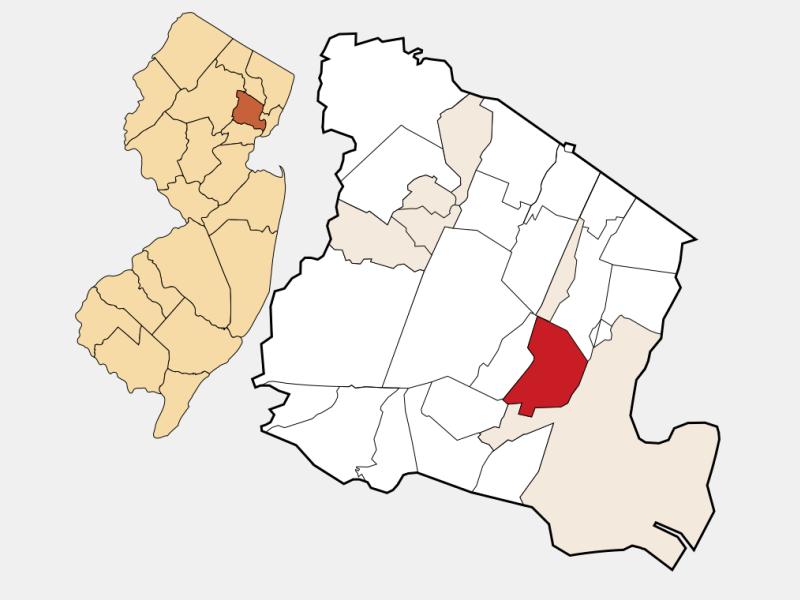 East Orange locator map