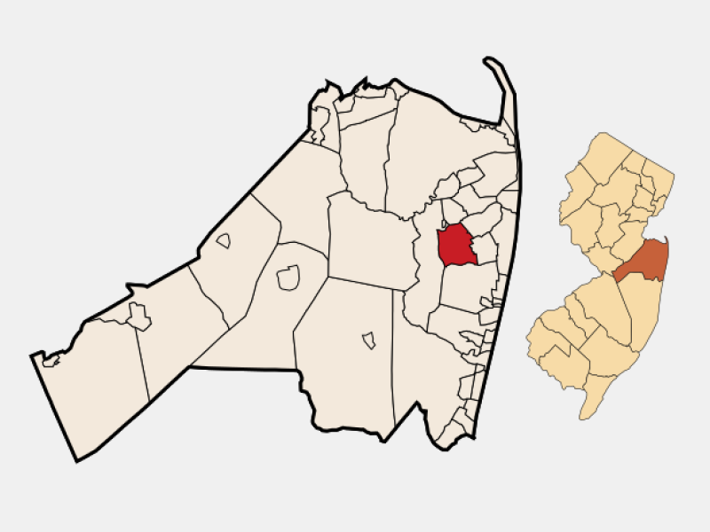 Eatontown locator map