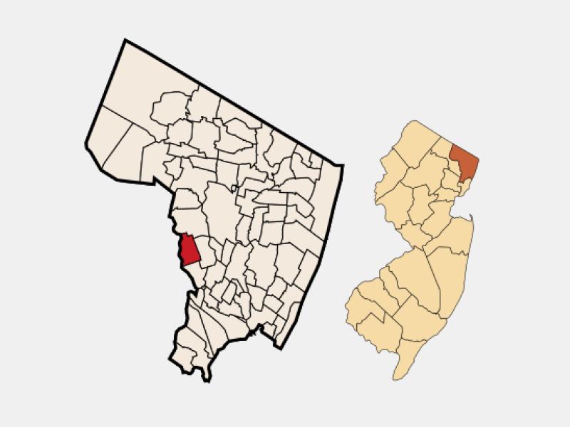 Elmwood Park locator map