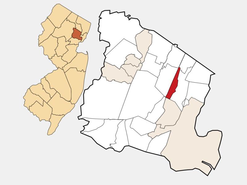 Glen Ridge locator map