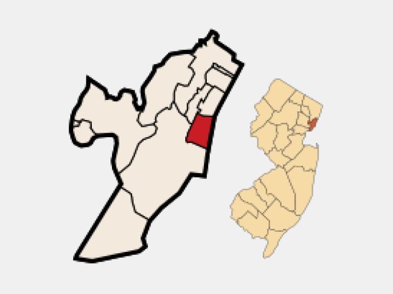 Hoboken locator map