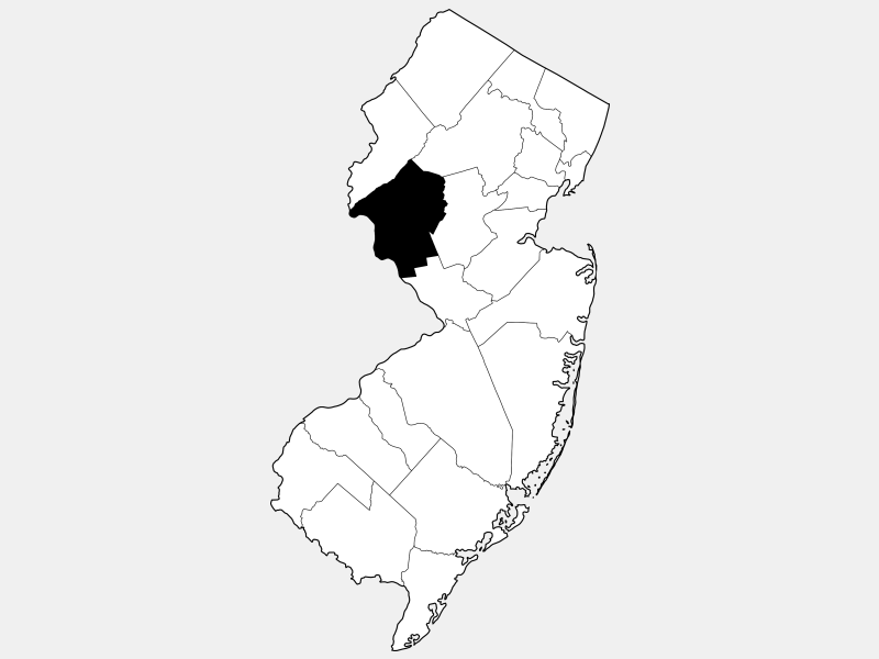 Hunterdon County locator map