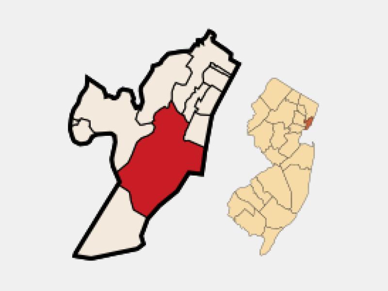Jersey City locator map