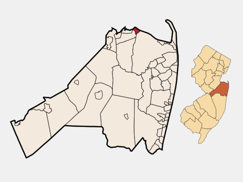 Keansburg locator map
