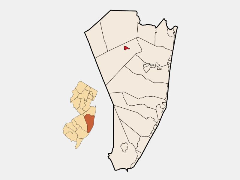 Lakehurst locator map