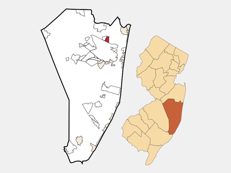 Leisure Village East locator map