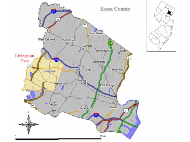 Livingston locator map